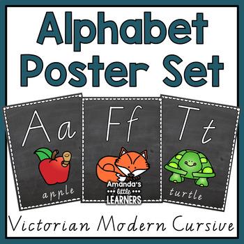 Alphabet Posters - Victorian Modern Cursive
