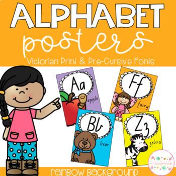 Alphabet Posters - Victorian Print and Pre-Cursive Fonts