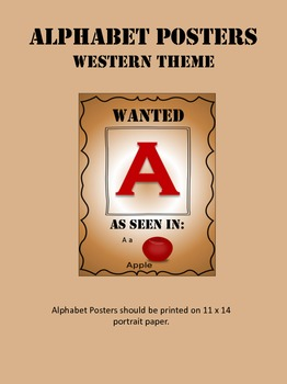 Alphabet Posters WESTERN