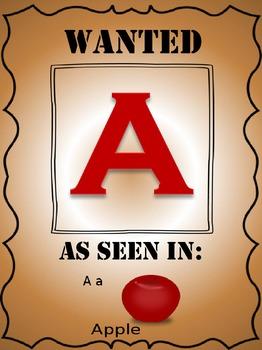Alphabet Posters WESTERN