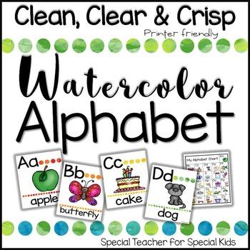 Alphabet Posters- Watercolor Theme