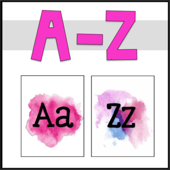 Alphabet Posters: Watercolor