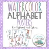 Alphabet Posters: Watercolor Animals
