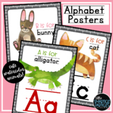 Alphabet Posters - Watercolor Animals