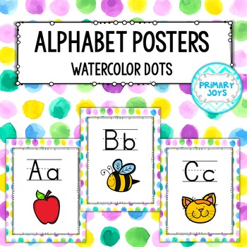 Alphabet Posters - Watercolor Dots