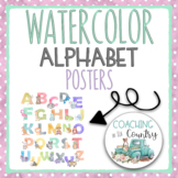 Alphabet Posters: Watercolor Letters and Animals