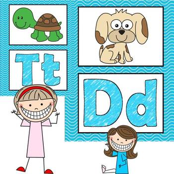 Alphabet Posters Wavy Classroom Theme