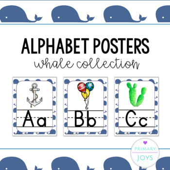 Alphabet Posters - Whales Collection