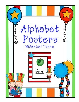 Alphabet Posters - Whimsical Cat Theme