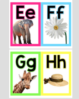 Alphabet Posters With Bright Borders