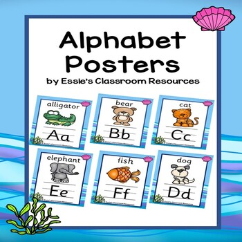 Alphabet Posters With Ocean Theme Background