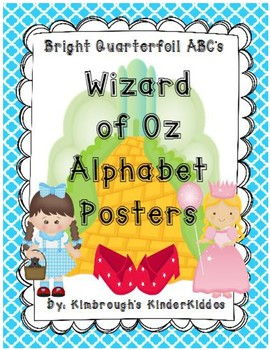 Alphabet Posters Wizard of Oz
