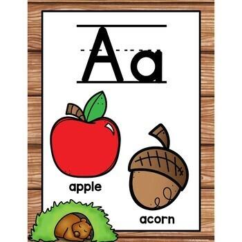 Alphabet Posters Woodland Creatures