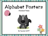 Alphabet Posters Woodland Theme