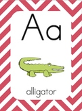 Alphabet Posters & Word Wall Cards [Chevron Stripes]