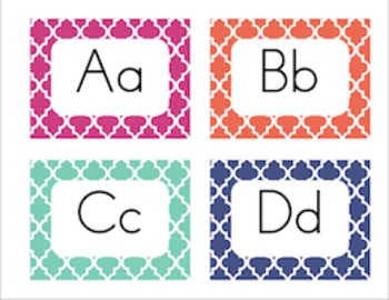 Alphabet Posters & Word Wall Cards [Moroccan Tiles]