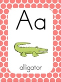 Alphabet Posters & Word Wall Cards [Polka Dots]