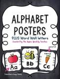 Alphabet Posters & Word Wall Letters {Chalkboard}