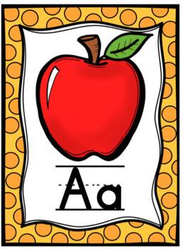 Alphabet Posters Yellow
