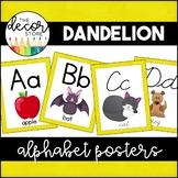 Alphabet Posters: Yellow   Classroom Decor