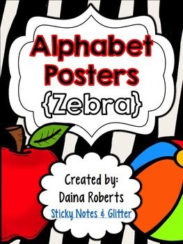 Alphabet Posters {Zebra}