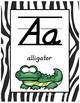 #roomdecor Classroom Decor Alphabet Posters - Zebra Print - Animals - Italics