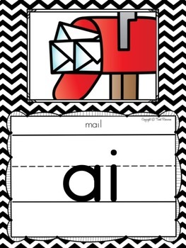 Alphabet Posters and Bunting in a Black and White Chevron Classroom Decor Theme