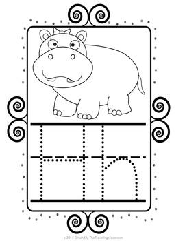 Alphabet Posters and Bunting {Chalkboard Chevron Polka Dot}