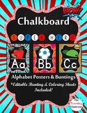 Alphabet Posters and Bunting {Chalkboard Superhero Decor}