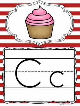 Alphabet Posters and Bunting in a Nautical Classroom Decor Theme