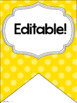 Alphabet Posters and Bunting {Polka Dot Brights}