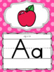 Alphabet Posters and Bunting in a  Polka Dot Brights Classroom Decor Theme