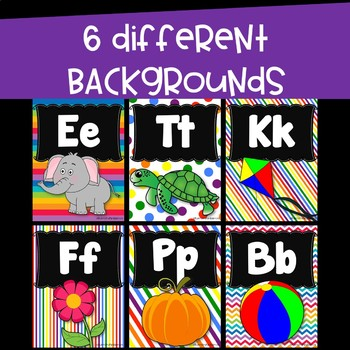 Alphabet Posters and Bunting ~ Rainbow Bright