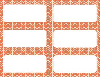 Alphabet Posters and Chart {Citrus Chevron}