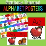 Alphabet Posters and Chart, Rainbow Themed