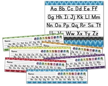 Alphabet Posters and Desk Strips (Chevron)