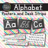 Alphabet Posters and Desk Strips (Colorful Stripe Dots)