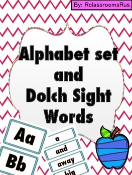 Alphabet Posters and Dolch Sight Words Posters (Blue)