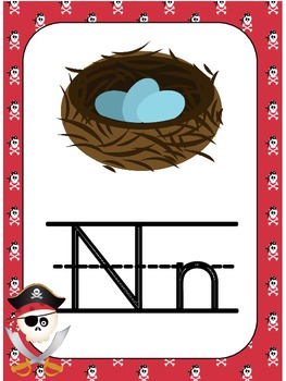 Alphabet Posters and Flash Cards  , Pirate Theme