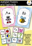 Alphabet Posters and Flash Cards - Victorian Modern Cursive Font
