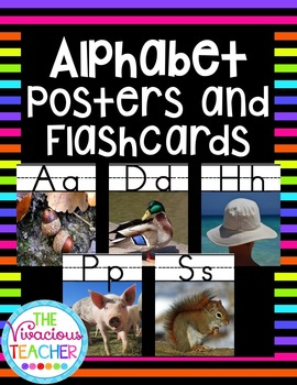 Alphabet Posters and Flashcards with Photographs