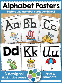 Alphabet Posters and Letter Cards Combo