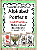 Alphabet Posters & Linking Chart Bundle (Photos/Wood Border) Fountas and Pinnell