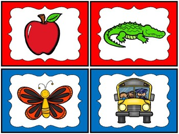 Alphabet Posters and Matching Sound Cards / Kindergarten / Back to School
