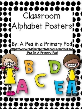 Alphabet Posters and More: Black and White Dot