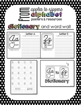 Alphabet Posters and Resources {Cursive, Rainbow Brights Edition}