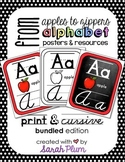 Alphabet Posters and Resources {Print & Cursive} Bundle