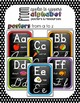 Alphabet Posters and Resources {Print & Cursive, Rainbow Chalkboard Edition}