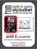Alphabet Posters and Resources {Print & Cursive, Rainbow C