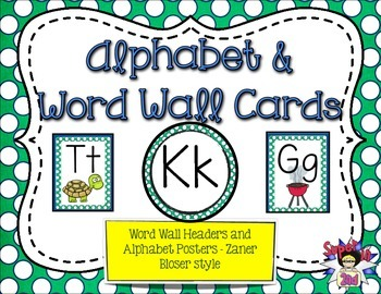 Alphabet Posters and Word Wall Headers